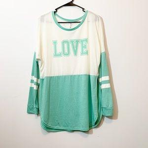 Love graphic tunic
